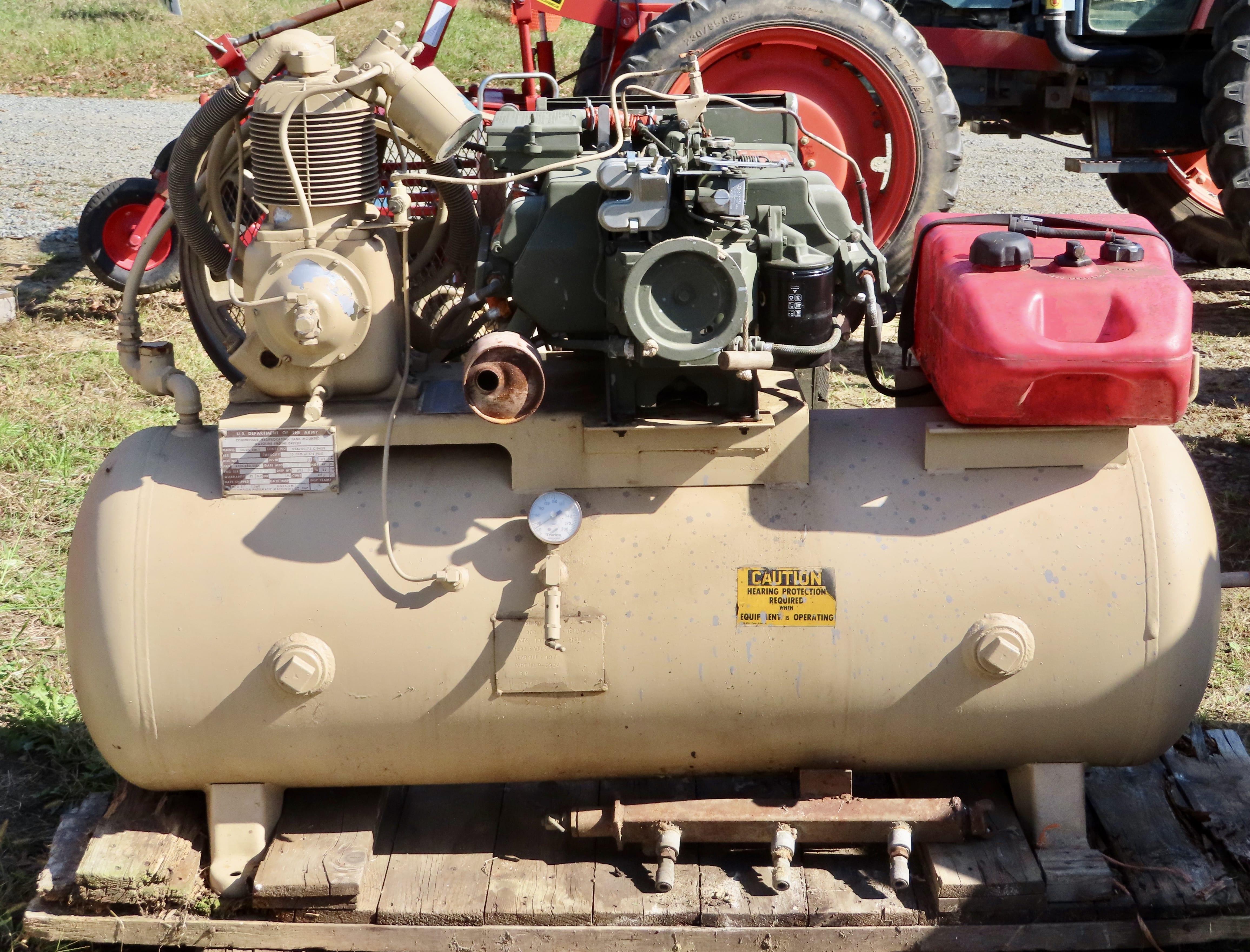 Vietnam-era military air compressor for sale