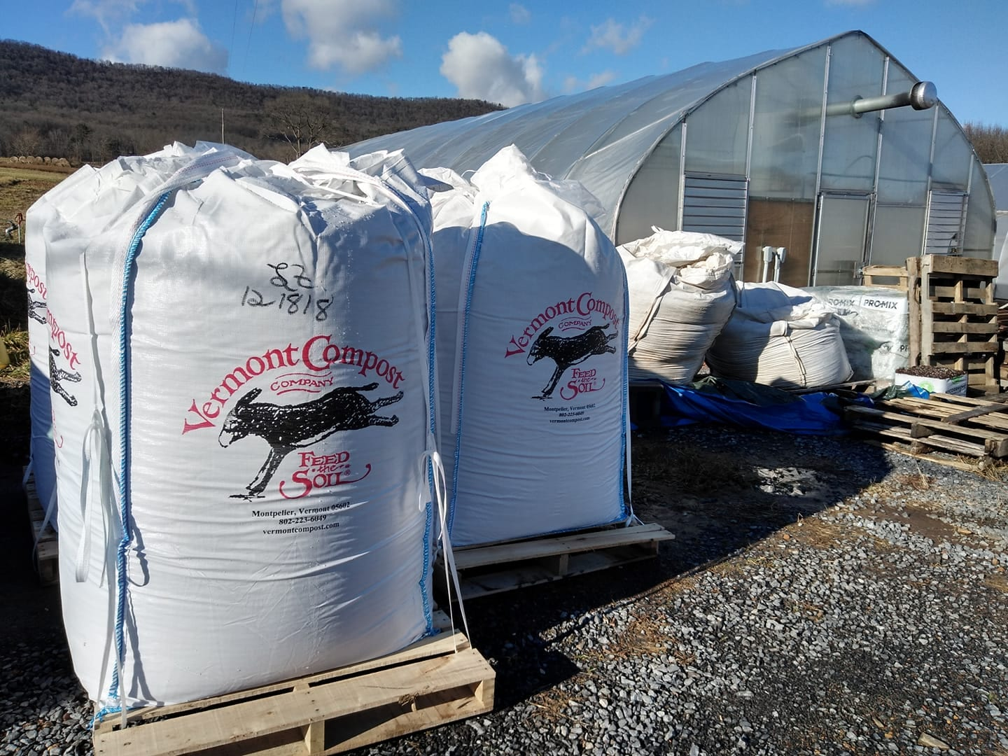 Tote of Vermont Compost Fort Light